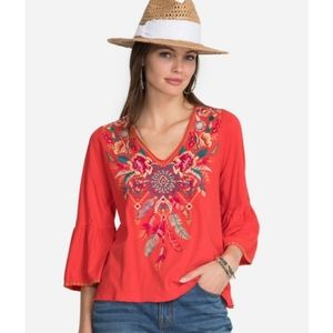 Nwt Johnny Was embroidered blouse Small